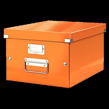 Cutie arhivare medie portocalie, LEITZ WoW Click&Store