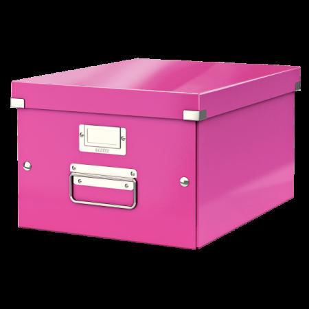 Cutie arhivare medie roz, LEITZ WoW Click&Store