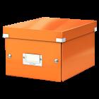 Cutie arhivare mica portocalie, LEITZ WoW Click&Store