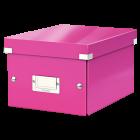 Cutie arhivare mica roz, LEITZ WoW Click&Store