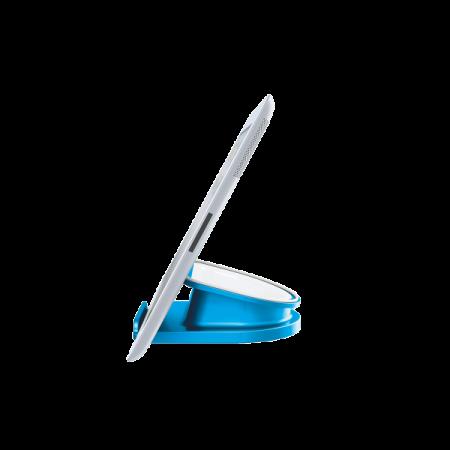 Suport rotativ pentru iPad/tableta PC, iPhone/smartphone albastru metalizat, LEITZ WoW Complete