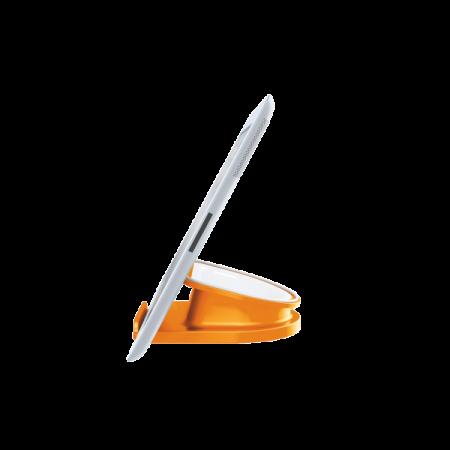 Suport rotativ pentru iPad/tableta PC, iPhone/smartphone portocaliu metalizat, LEITZ WoW Complete