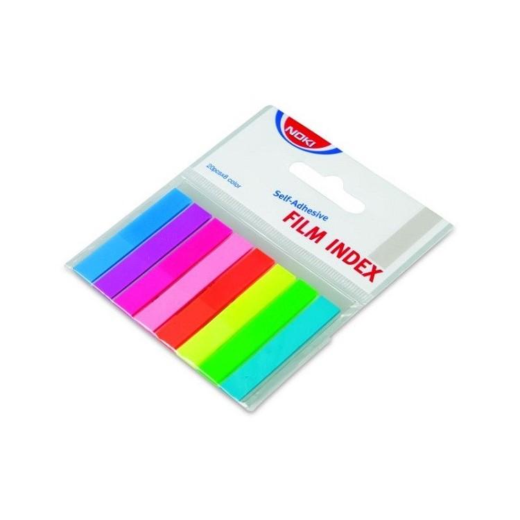 Index adeziv plastic 12x45mm 20 file x 8 culori, NOKI