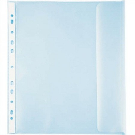 Folie protectie documente A4 cu clapa laterala transparenta 25 buc/set, NOKI