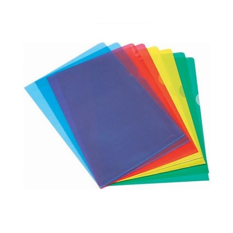 "Folie protectie documente A4 deschidere ""L"" albastra 100 buc/set, NOKI"