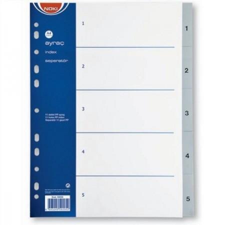 Separator index plastic 1-5, NOKI
