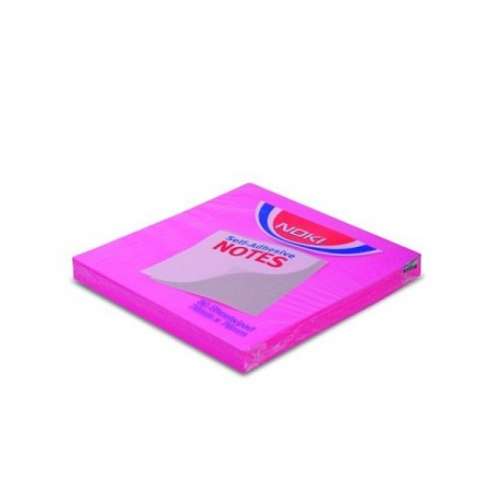 Notes adeziv 76x76mm magenta neon 100 file, NOKI