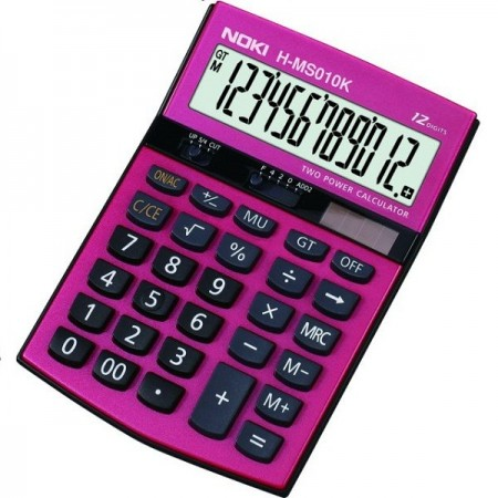 Calculator pentru birou 12 Digits rosu, NOKI HMS010