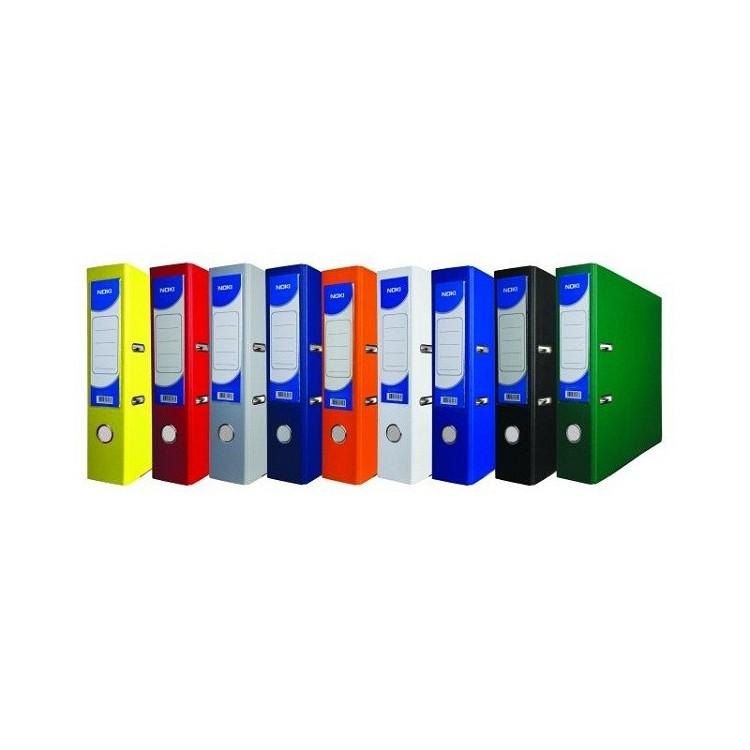 Biblioraft plastifiat 7.5cm albastru, NOKI