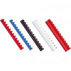Inel plastic 16mm max 145 coli alb 100 buc/cut, FELLOWES