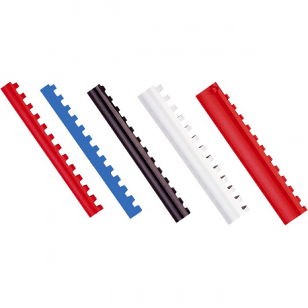Inel plastic 8mm max 45 coli alb 100 buc/cut, FELLOWES