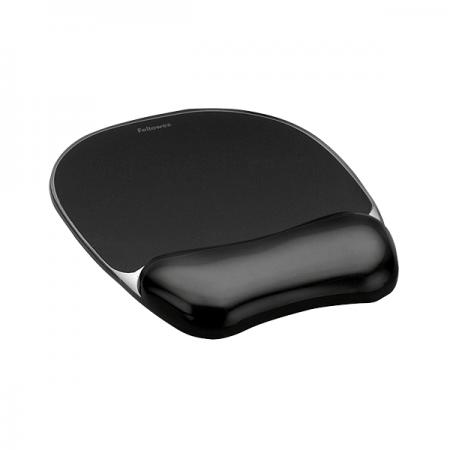 Mouse pad cu gel negru, FELLOWES Crystal
