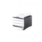 Suport documente cu 4 sertare alb/negru, FELLOWES G2Desk