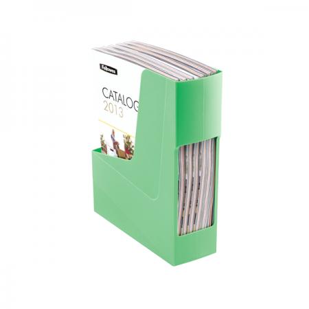 Suport vertical documente plastic verde, FELLOWES G2Desk