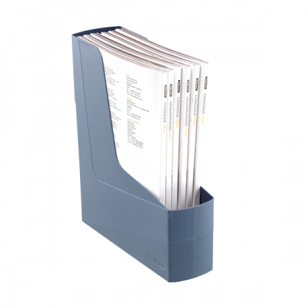 Suport vertical documente plastic albastru, FELLOWES G2Desk