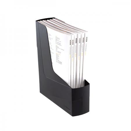 Suport vertical documente plastic negru, FELLOWES G2Desk
