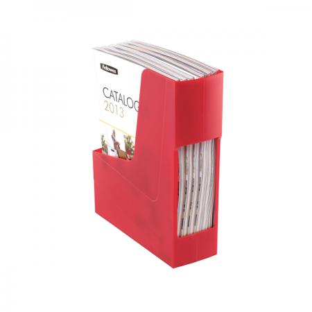 Suport vertical documente plastic rosu, FELLOWES G2Desk