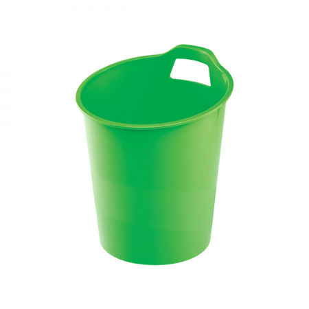 Cos hartii 15l plastic verde, FELLOWES G2Desk