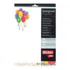 Hartie A4 90g/mp cu model balon 20 coli/set, DECADRY