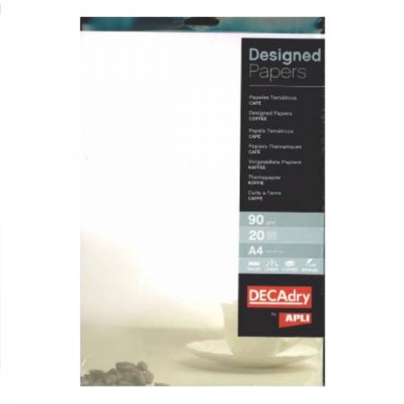 Hartie A4 90g/mp cu model cafea 20 coli/set, DECADRY