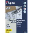 Etichete adezive 12/A4 105x48mm 100 coli/top, AGIPA