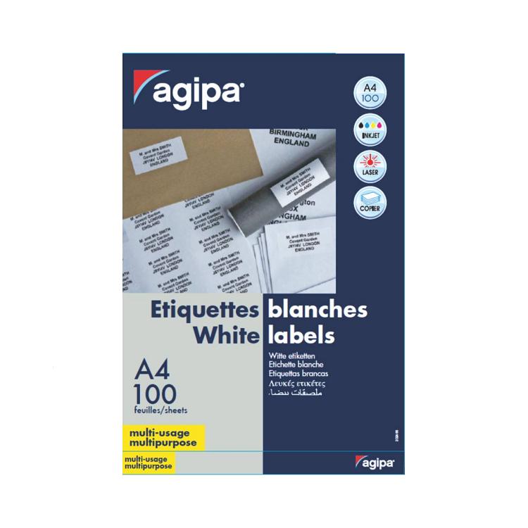Etichete adezive 2/A4 210x148.5mm 100 coli/top, AGIPA