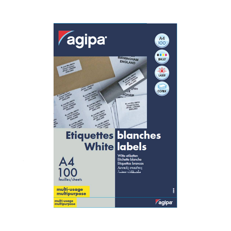 Etichete adezive 65/A4 38x21.2mm 100 coli/top, AGIPA