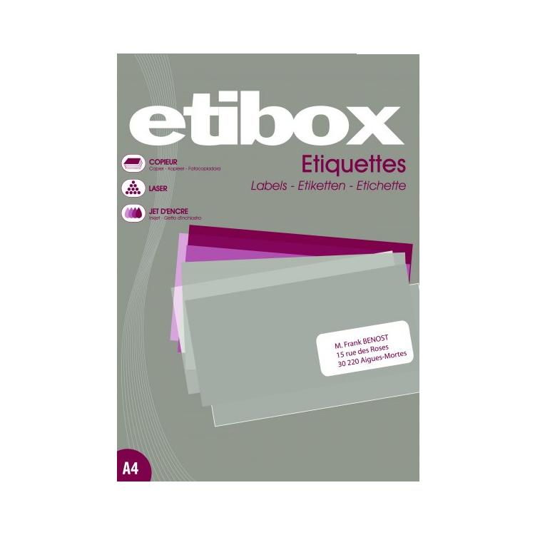 Etichete adezive 12/A4 105x48mm 100 coli/top, ETIBOX