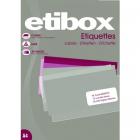 Etichete adezive 65/A4 38x21.2mm 100 coli/top, ETIBOX