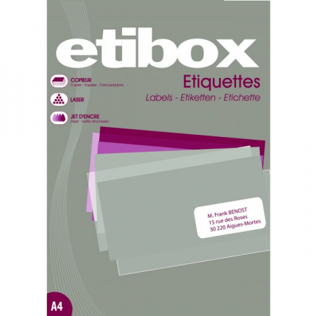 Etichete adezive 44/A4 48.5x25.4mm 100 coli/top, ETIBOX