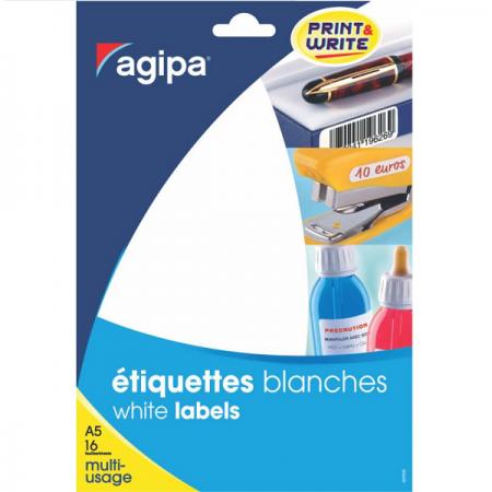 Etichete adezive rotunde 96/A5 15mm verzi 10 coli/set, AGIPA