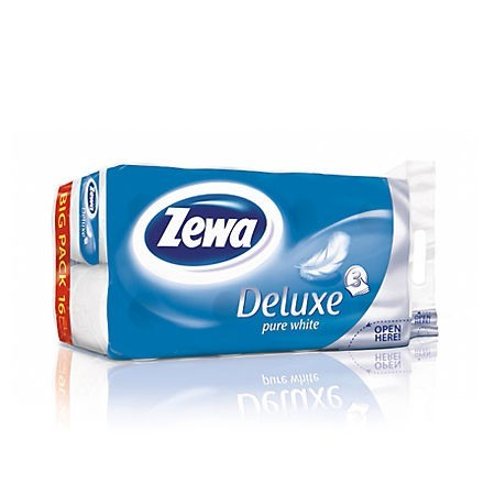 Hartie igienica 3 straturi 16 role/set, ZEWA Pure White