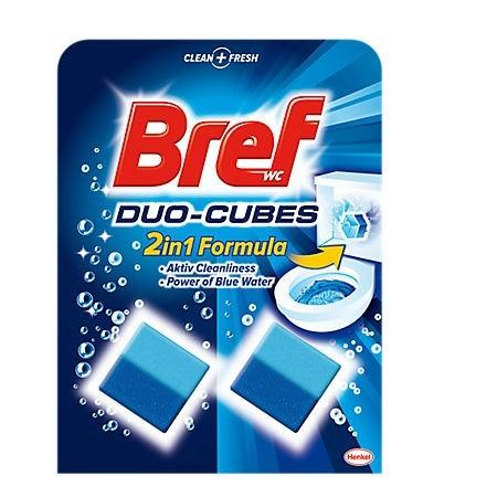 Odorizant de toaleta solid in bazin 2x50g, BREF Duo-cubes