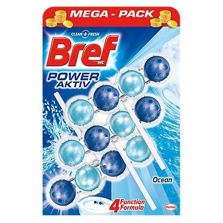 Odorizant de toaleta solid 3x50g diverse arome, BREF Power Aktiv