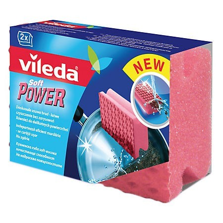 Burete vase cu protectie unghii 2 buc/set, VILEDA Power Soft