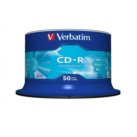CD-R 700Mb 52x 50 buc/cut, VERBATIM Extra Protection