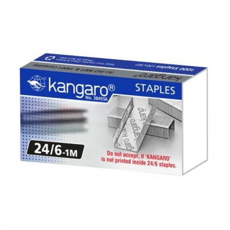 Capse 24/6 1000 buc/cut, KANGARO 1M