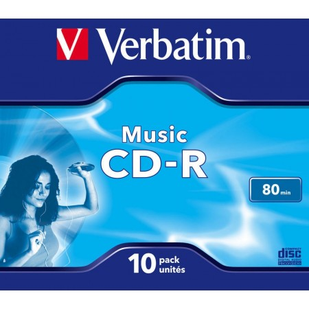 CD-R 700Mb/80min 16X jewelcase color, VERBATIM Audio