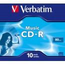 CD-R 700Mb/80min 16X jewelcase color, VERBATIM Audio