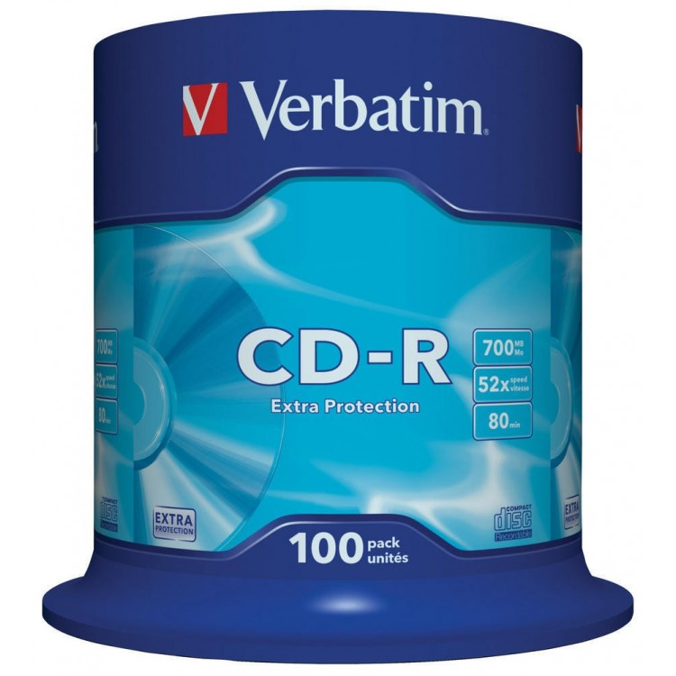 CD-R 700Mb 52x 100 buc/cut, VERBATIM Extra Protection