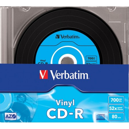 CD-R 700Mb 52x slimcase, VERBATIM DATA VINYL