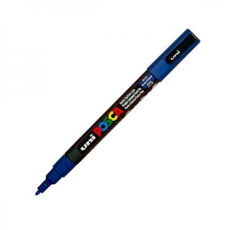Marker pentru desen 1.5mm albastru, UNI Posca