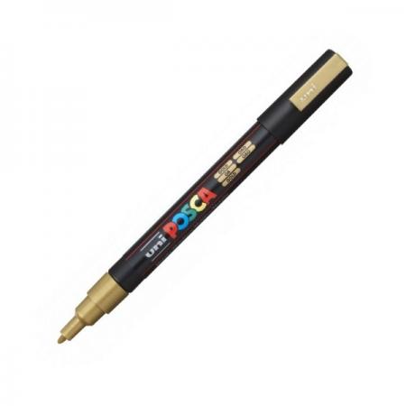 Marker pentru desen 1.5mm auriu, UNI Posca