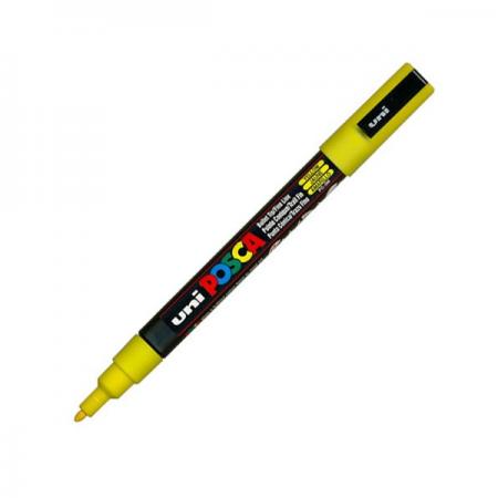 Marker pentru desen 1.5mm galben, UNI Posca