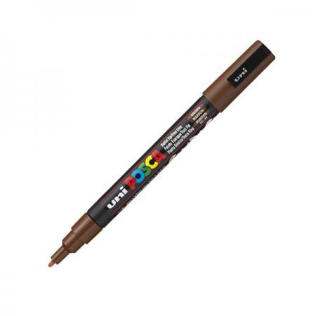Marker pentru desen 1.5mm maro, UNI Posca