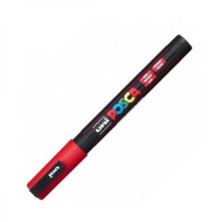 Marker pentru desen 1.5mm rosu, UNI Posca