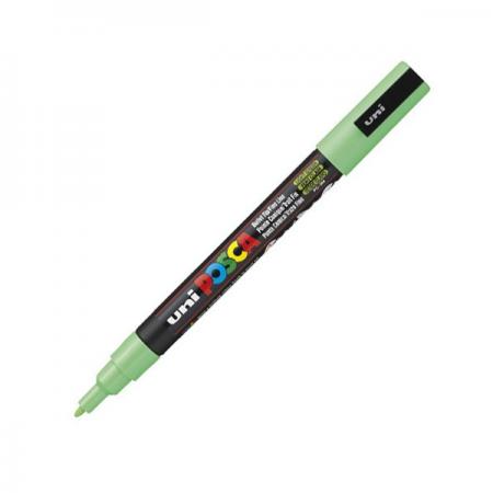 Marker pentru desen 1.5mm verde deschis, UNI Posca