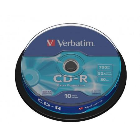 CD-R 700Mb 52x 10 buc/cut, VERBATIM Extra Protection