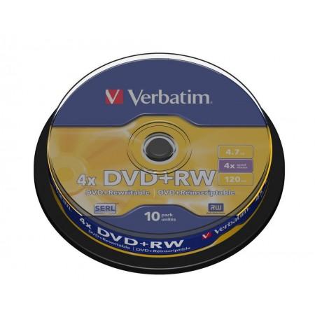 DVD+RW 4.7Gb 4x 10 buc/cut, VERBATIM Matt Silver