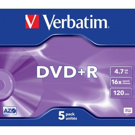 DVD+R 4.7Gb 16x jewelcase, VERBATIM Matt Silver
